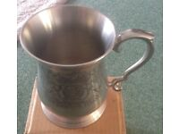 Fuller smith & Turner pewter tankard with cover
