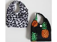 Brand New Waterproof Patterned Pocket Shopper / Reusable Bag / Tote Bag
