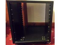 12RU metal rack with castors wheels for rackmount equipment - £30