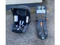 Baby carrier and isofix base