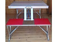 £60 Bargain - Vintage Folding Picnic Table by Seluart Engineering 1950's/60's