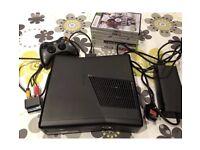 XBOX 360 BUNDLE:- Console, controller & 7 x games