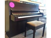 Fazer Upright Piano ~ Modern Size ~ Mahogany ~ Tuned ~ Free Delivery!