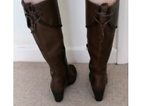 ladies boots size 6 brown excellent condition hardly worn