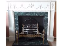 Fireplace and electric fan heater