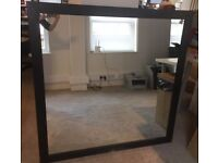 Large Size Black Wooden Mirror