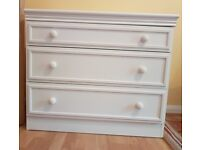 ALREADY BUILT UP WHITE CHEST OF DRAWERS