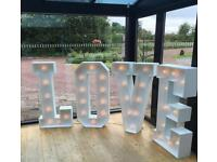 Giant 4ft LOVE Letters & Heart to HIRE