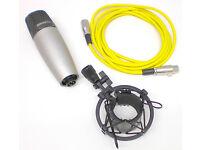 SAMSON C03 MULTI-PATTERN STUDIO MICROPHONE, 3Mtrs XLR CABLE & SHOCKMOUNT