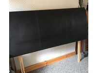 King Sized Luxury Leather Curved Headboard