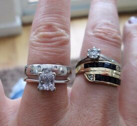 950 Platinum & Diamond Wedding Ring Band Size P Women's Men's Thumb 4.8 grams