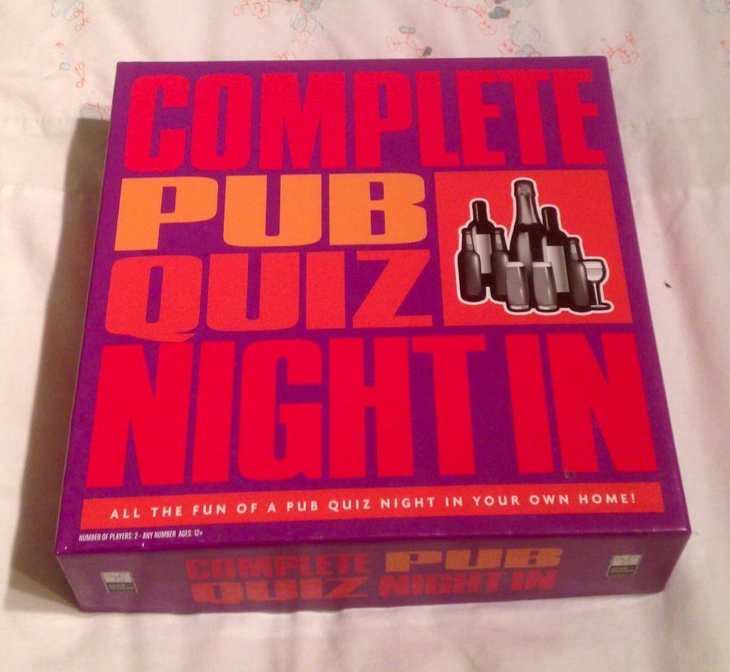 Complete Pub Quiz Night In From Mad Moose. 1900 Questions. Complete And VGC.