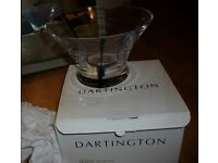 Dartington handmade glass bowl new , boxed