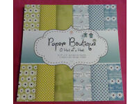 """Paper Boutique A Hint Of A Hoot Paper Pad Teal – 36 Sheets, Size: 8"""" x 8"""""""