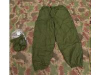Brand New British Army Issued Reversible Softie Thermal Trousers - Size Large