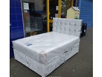 ❗️Brand new king size base diamonds headboard and high quality mattress