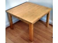 IKEA LARGE SQUARE COFFEE TABLE, LIGHT SOLID WOOD, VERY STEADY, EXCELLENT CONDITION