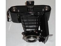 Vintage Antique 1930s Zeiss Ikon Nettar 515/2 6x9cm Folding Bellows Medium Format Camera w/case