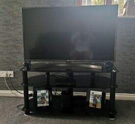 """Black tv stand, suits upto 50"""" tv"""