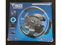 Thrustmaster T150 Racing Wheel & Pedals Ps4 Ps3 Pc IMMACULATE £80
