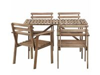 IKEA ASKHOLMEN Garden Table - 4 chairs - With seat cushions - Like New, Shoreditch