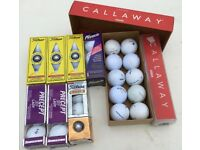 GOLF BALLS ALL IN BOXES GOOD PERCENTAGE ARE BRAND NEW A FEW HAVE BEEN USED 35 BALLS TOTAL