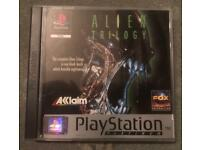 PlayStation 1 alien trilogy game. Ps1