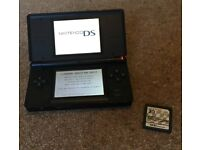 Nintendo DS Lite with carry case and Mario Kart game