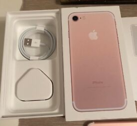 Rose gold IPhone 7 128gb