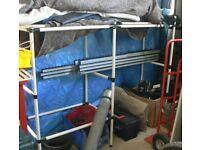 Tube and bracket shelving / storage / racking