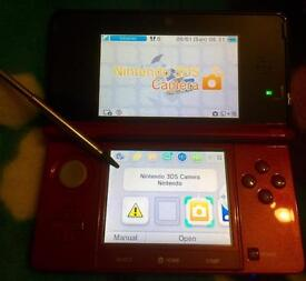Metallic red 3DS and 3 games