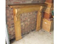 Victorian pine fire surround and mantlepiece