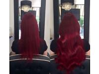 Mobile hairdresser based in Birmingham - Tape extensions, LA weave, Micro extensions & Balayage