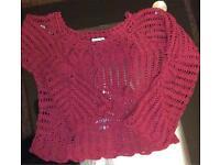 Select Long sleeve crochet shrug size 12
