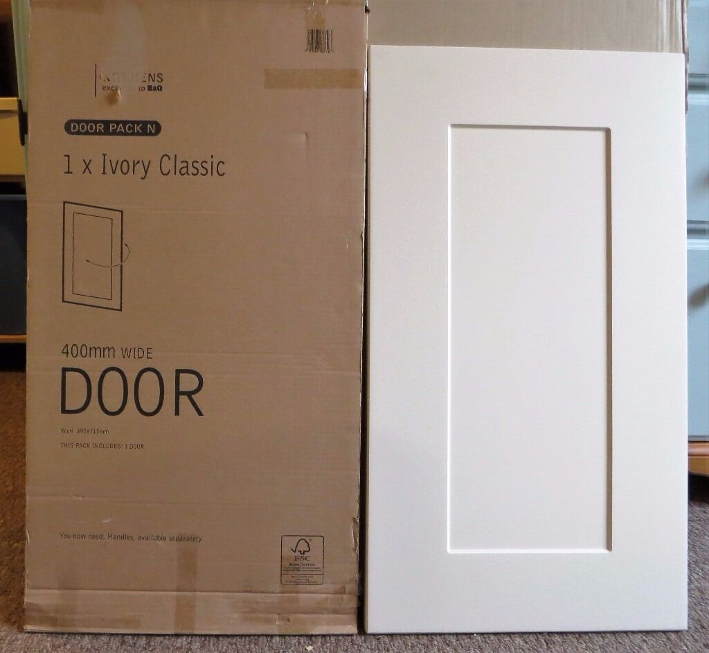 Bq It Kitchen Doors Bq Ivory Kitchen Cabinet Door 400mm Unused In Original