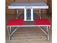 £60 Vintage Folding Picnic Table by Seluart Engineering 1950's/60's