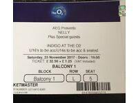 2 Nelly tickets at The 02. 25/11/2017, 7pm.