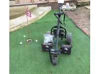 Golf trolley with 2 batteries and charger