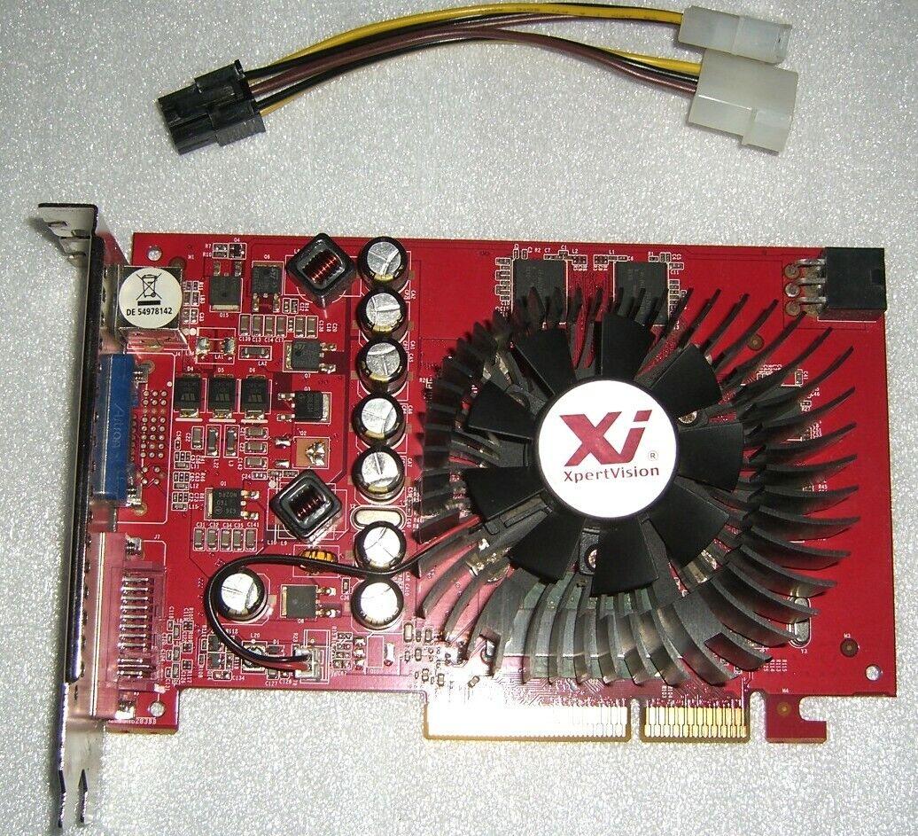 Palit GeForce 7600GT 256MB DDR3 AGP Grafikkarte nVidia 7600 GT AGP8X G73 DVI VGA