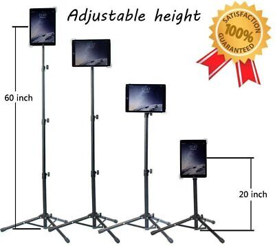 Tripod Floor Stand Rotates 360 Degrees Fits 9.5 to 14.5 Inch Tablets Ipad Kindle