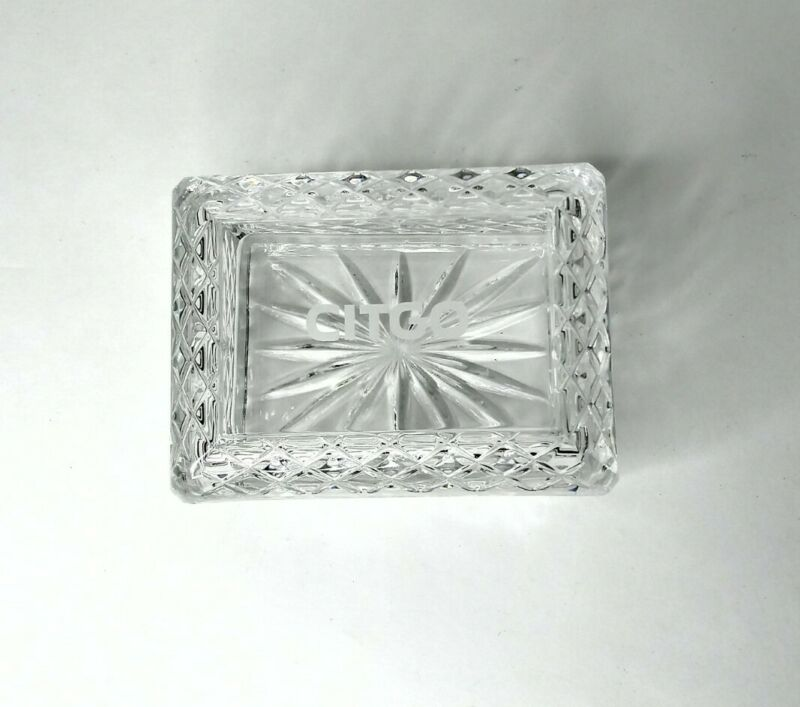 Citgo Oil & Lubricants Gas Station Crystal Candy Dish Promo
