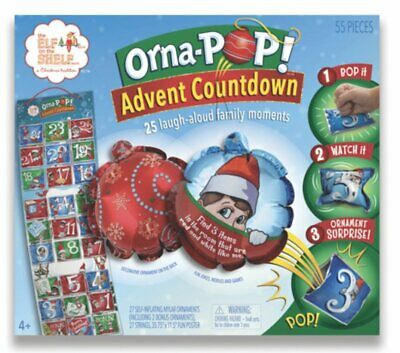 Elf on the shelf Elf orna-pop advent countdown set