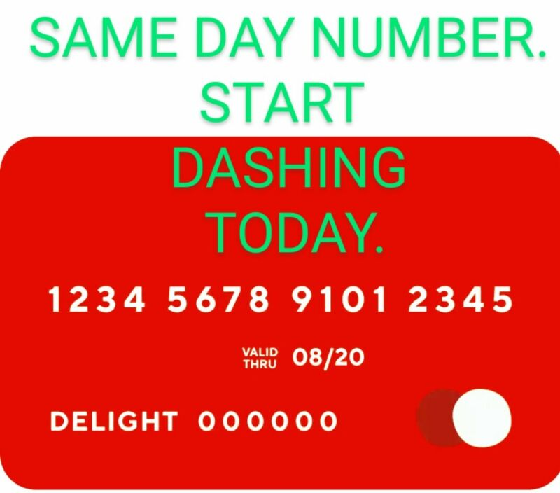 DoorDash Official Red Card SAME DAY CARD NUMBERS!!