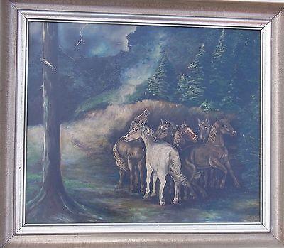 Pferdebild Ölgemälde  Gemälde Tier Malerei