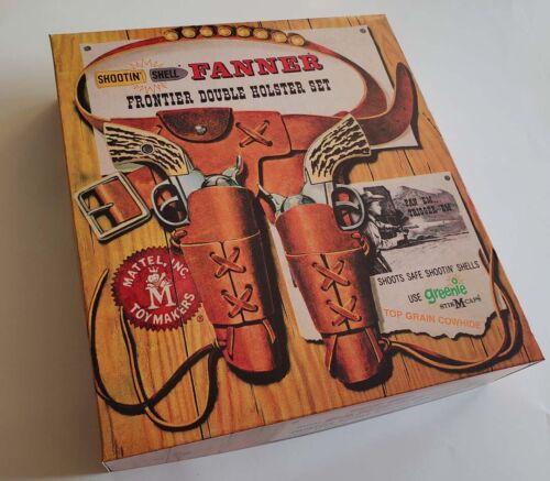 Mattel Shootin Shell Fanner Empty Box Frontier Double Holster Set 1958 Type Read