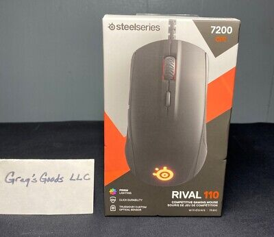 Steelseries Rival 110 Optical Gaming Mouse, USB, 200-7200 CPI - Black Brand New!
