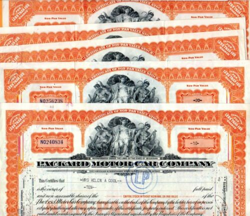 1931 Packard Motor Car Company 1931 Stock Certificates Set of 5-2