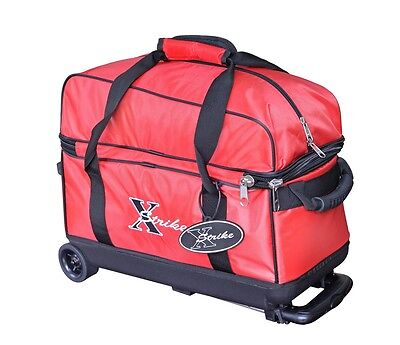 NEW XSTRIKE 2 BALL ROLLER BOWLING BAG RED, SPECIAL SALE PRICE $44.95