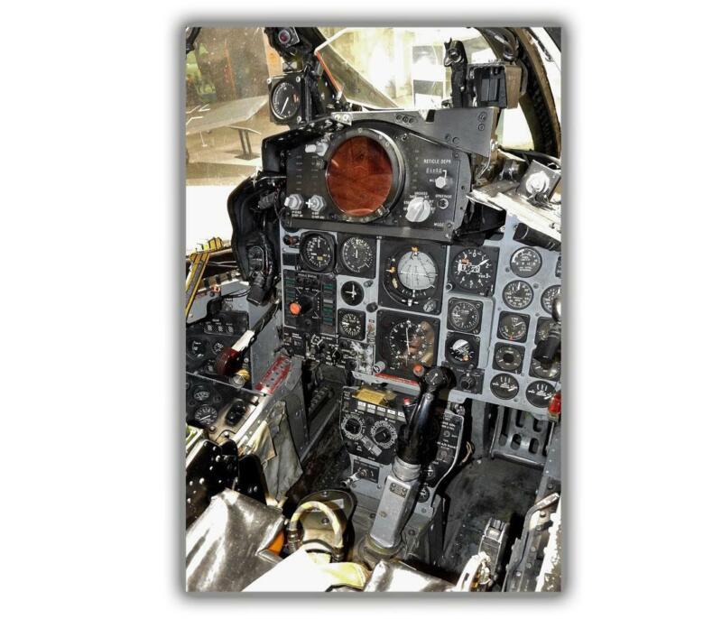 "War F4 Phantom pilots cockpit US Army Photo Glossy ""4 x 6"" inch B"