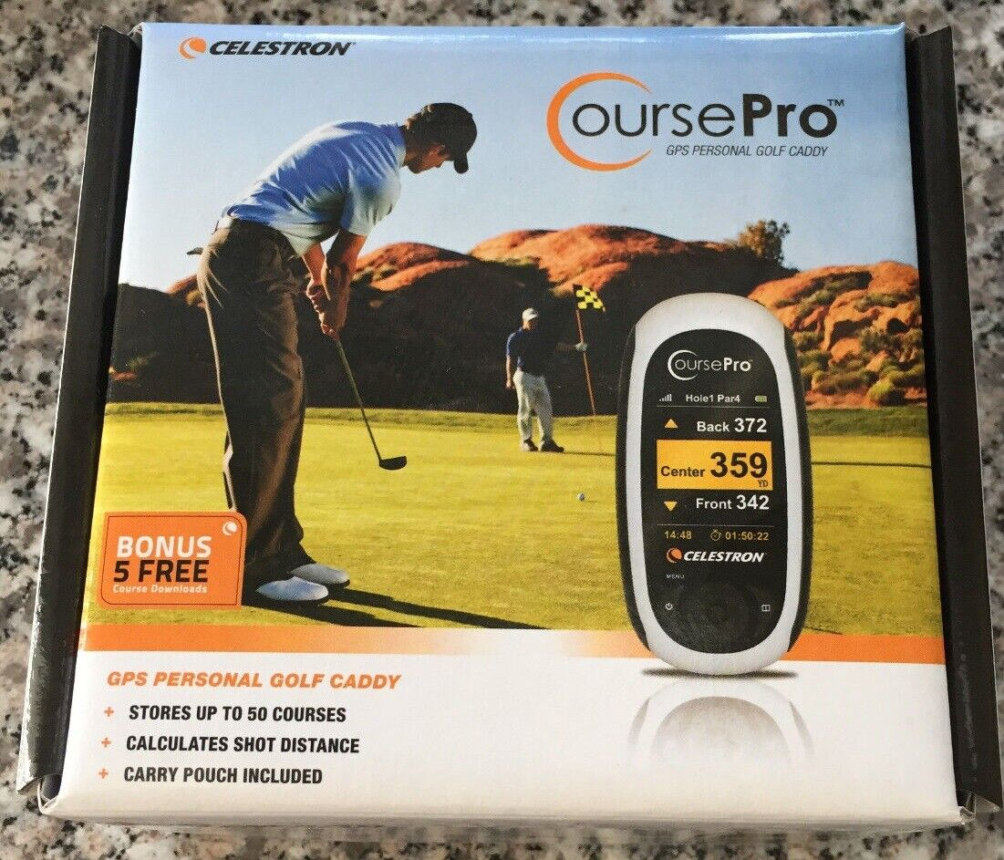 Celestron Course Pro Golf Navigationsgerät GPS Personal Golf Caddy